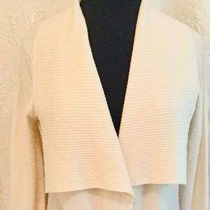 ST. TROPEZ Cashmere 100% 2 Ply White Sweater Med.